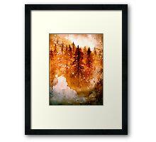 Autumn Dawn....Chinese Brush Painting.. Framed Print