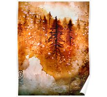 Autumn Dawn....Chinese Brush Painting.. Poster