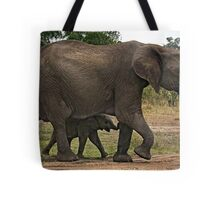 Elephants - Baby with Mother Tote Bag