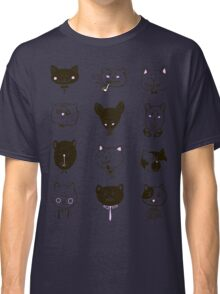 Set of cats heads Classic T-Shirt