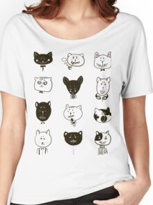Set of cats heads Women's Relaxed Fit T-Shirt