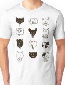 Set of cats heads Unisex T-Shirt