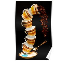 Tumbling Cups Poster
