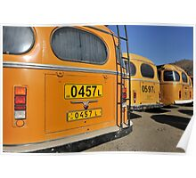 Yellow Buses Poster