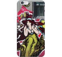 Art Deco Lady Graffiti iPhone Case/Skin