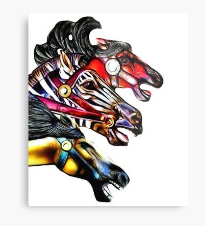 Carousel Equine Metal Print