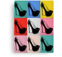 Louboutin Colorful Pop Art High Heels Canvas Print