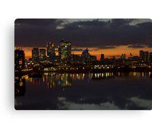 London Docklands Sunset Canvas Print