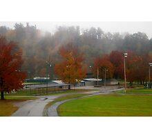 Autumn Rain at the Park Photographic Print
