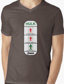 Walk with HULK Mens V-Neck T-Shirt