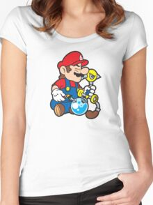 Super Stoned Mario Women's Fitted Scoop T-Shirt