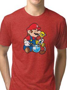 Super Stoned Mario Tri-blend T-Shirt