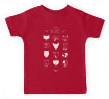 Set of cats heads. Face kitten, whiskers and ears, muzzle and wool. Vector illustration Kids Tee