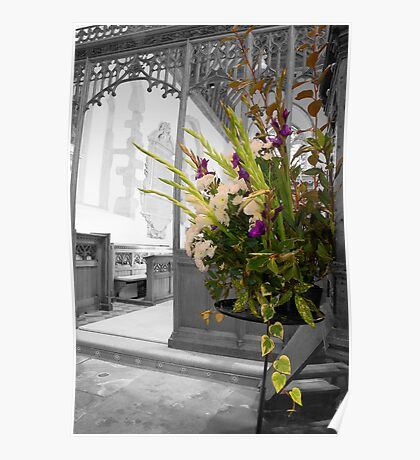 Floral Display All Saints Church, Hollingbourne Poster