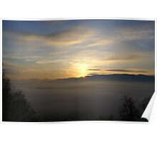 Foggy Sunrise Poster