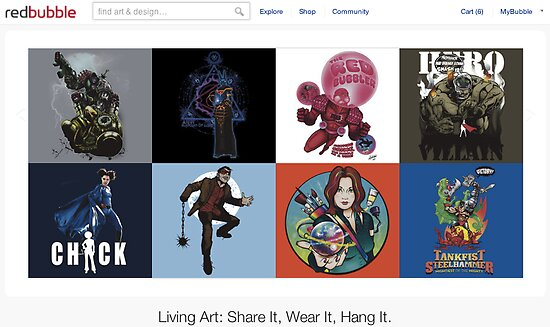 18 October 2011 by The RedBubble Homepage
