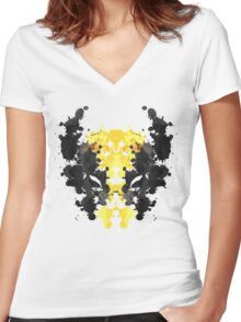 Wolverine Rorschach Women's Fitted V-Neck T-Shirt