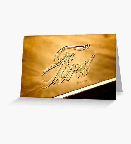 Antique Brass Greeting Card