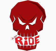 SKULL: JUST RIDE (Red Skull)  Unisex T-Shirt