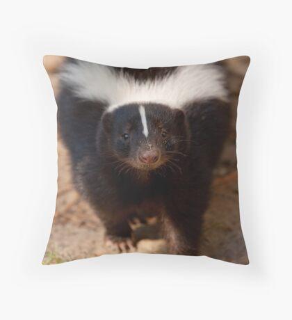 Skunk - Eye Contact Throw Pillow