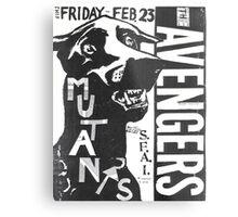 the avengers the mutants show flyer Metal Print