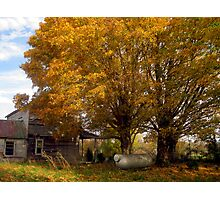 A Forsaken Farmhouse in Fall Photographic Print
