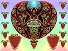 Lazy J Brushed Strawberry Hearts  (UF0470) by barrowda