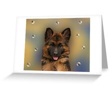 Puppy and Bubbles Greeting Card