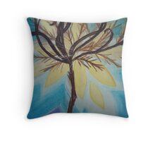 Feathery Tree Throw Pillow