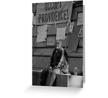Occupy Providence Greeting Card