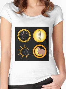 Sun tan graphic  Women's Fitted Scoop T-Shirt
