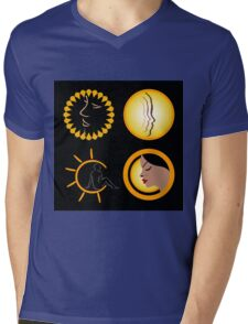 Sun tan graphic  Mens V-Neck T-Shirt