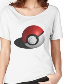 3D Style Pokemon Pokeball Women's Relaxed Fit T-Shirt