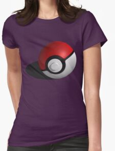 3D Style Pokemon Pokeball Womens Fitted T-Shirt