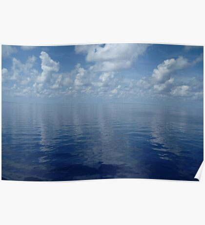 Clouds on the Carribean Ocean Poster