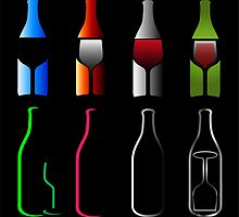 Bottles and glasses- spirits  by Shawlin Mohd