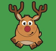 Red Nose Reindeer One Piece - Short Sleeve