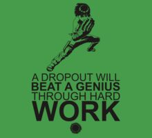 Rock Lee - A Dropout Will Beat A Genius Through Hard Work - Black Baby Tee