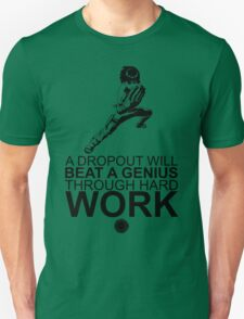 Rock Lee - A Dropout Will Beat A Genius Through Hard Work - Black T-Shirt