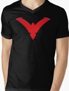 Nightwing Symbol (Red) Mens V-Neck T-Shirt