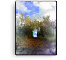 Road with pleasant end Canvas Print