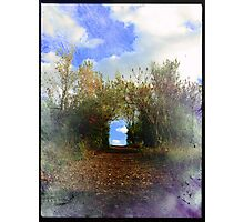 Road with pleasant end Photographic Print