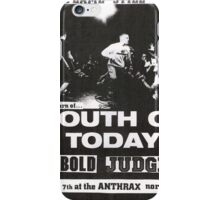 youth of today bold judge show flyer iPhone Case/Skin