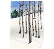 Watercolor 1_Snowy Hillside Poster