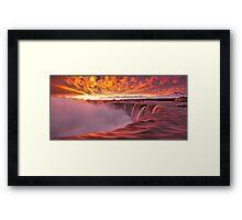 Horseshoe Falls at sunrise Framed Print