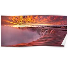 Horseshoe Falls at sunrise Poster