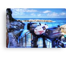 Ousted Outboards Canvas Print