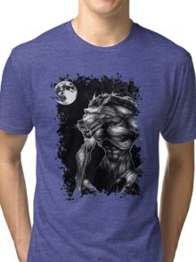 Werewolf and the full moon. Tri-blend T-Shirt