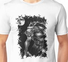 Werewolf and the full moon. Unisex T-Shirt