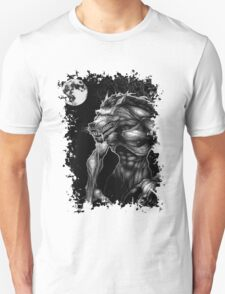 Werewolf and the full moon. T-Shirt